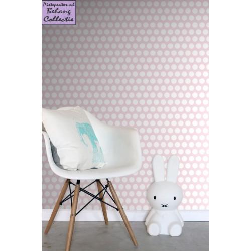 Babykamer Behang Roze : Behang baby roze grote stippen merk ...